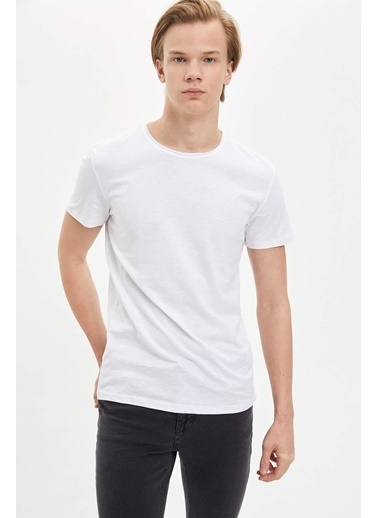 DeFacto Basic Slim Fit T-Shirt Beyaz